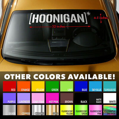 HOONIGAN KEN BLOCK JDM DRIFT HOON Windshield Banner Vinyl Decal Sticker 32x6.5""