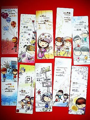 10X School Kids Colorful Paper Bookmark Stationery Collection Accessories Gift