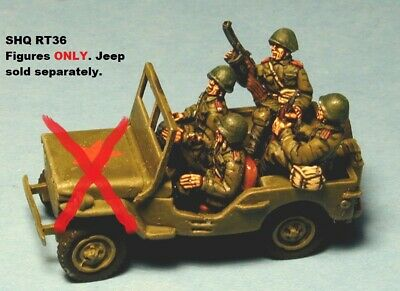 8740b7350 SHQ RT36 1 76 Diecast WWII Russian Driver   Three Crew for Lend Lease Jeep