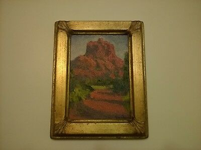 Vtg Jane Newman Oil Painting Realistic Mountain Landscape Art Signed Titled Rare