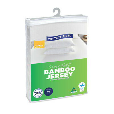 Protect-A-Bed Super Soft Bamboo Jersey Fitted Pillow Protector