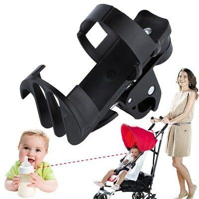 Black Plastic Baby Stroller Parent Console Organizer Cup Holder Buggy Jogger YG
