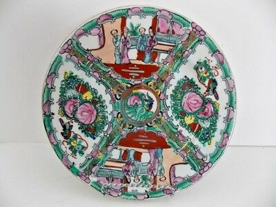 Chinese Porcelain Famille Rose Mefallion Marked Plate