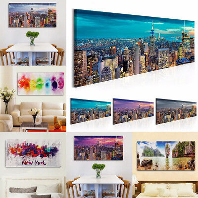 Canvas Prints Paintings Flowers New York Picture Wall Art Display Decor Unframe