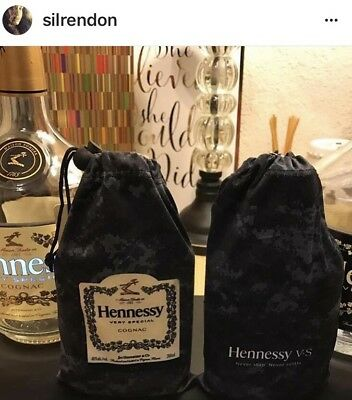 Hennessy Cognac Black Camouflage Bag Complete Collectible Set