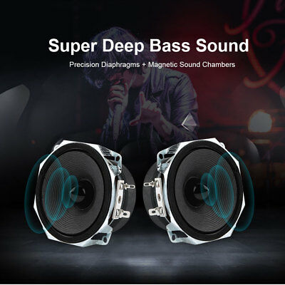 2PCS 3'' 30W Full Range Speakers  High Sensitivity 8Ω Rich Deep Bass DIY Speaker
