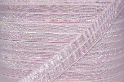 1m FOE light pink, fold over elastic FREE POST