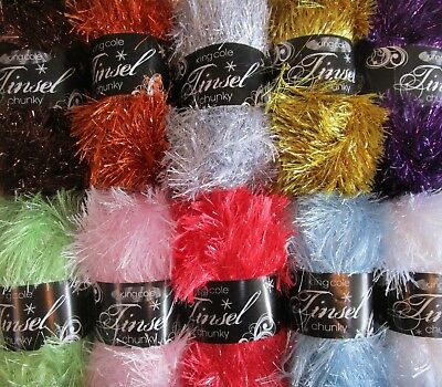 50g BALLS KING COLE TINSEL CHUNKY KNITTING YARN