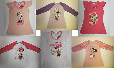 Girls nightie nightdress Minnie Mouse  2 3 4 5 6 years nightwear pyjama NEW