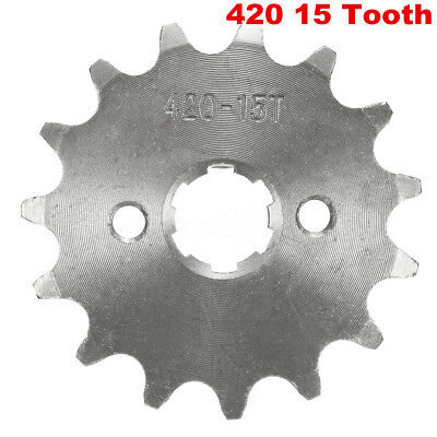 420-15T 17mm 420 Size 15 Teeth Front Sprocket For Motorcycle ATV Pit Dirt Bike