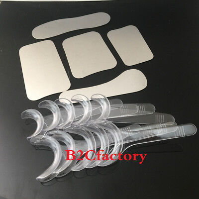 5pcs Dental Orthodontic Photographic Mirror Autoclavebale+10PCS Retractor Opener