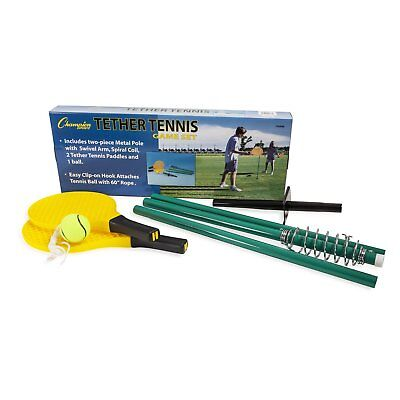 CHAMPION SPORTS TTGAME Tether Tennis Set,Pole,Ball,2 Paddles