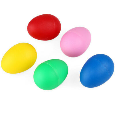12x Plastic Percussion Musical Egg Maracas Shakers Kids Toys Gift (Color Random)
