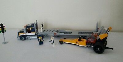 LEGO CITY - 60151 - DRAGSTER TRANSPORTER truck and lights + instructions 1  2 3