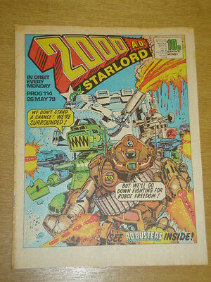 2000Ad #114 British Weekly Comic Judge Dredd May 1979 *