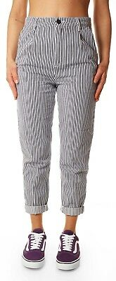 Trousers Carhartt WIP pullman ankle pant jeans striped pinstripes blue white