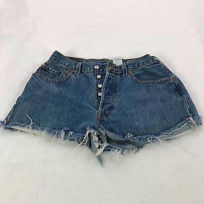 b2accf9a Levi's 501 Women's Size W 33 Denim Stone Wash Shorts Button Fly Daisy Dukes