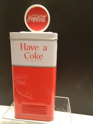 Coca-Cola Tin Bank With A Coke Vintage Vending Machine Themed Brand New
