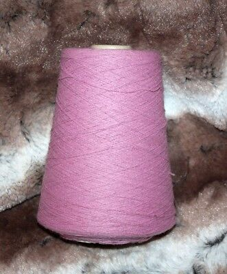 1 Cone Hand or Machine Knitting Acrylic in Dusty Pink Total weight 340g