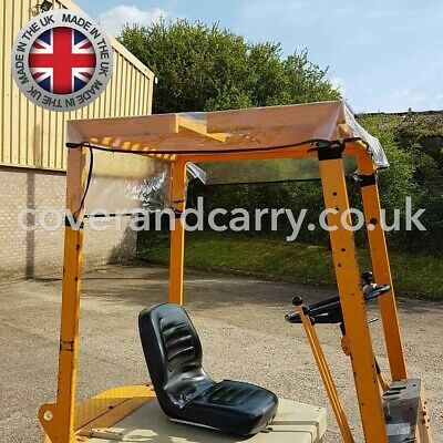 "Forklift Rain Cover Roof Panel 52"" x 49"" With Adjustable Fastenings"