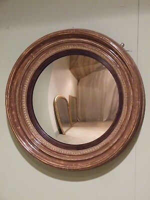 Very Large English Antique Convex Wall Mirror C1830-40