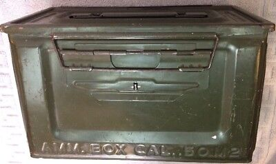 US H WWII .50 Cal M2 Empty Ammo Box Can