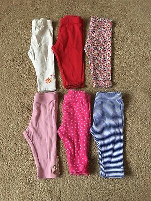 Girls 3-6 Months Leggings Trousers bundle baby next mini club pink