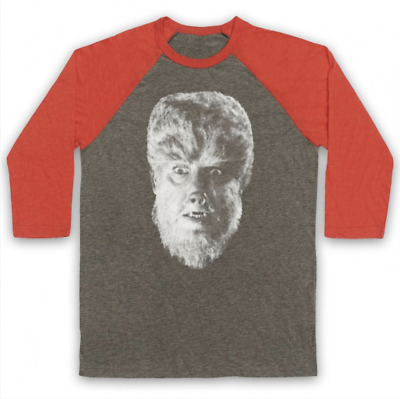 Classic Horror Unofficial The Wolf Man Film 1941 Scary 3/4 Sleeve Baseball Tee