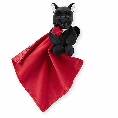 New Carter's Snuggle Buddy Black Scottie Dog Red Security Blanket Soft Cute NWT