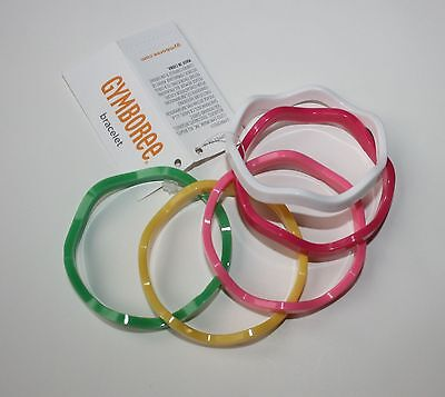 New Gymboree Girls Multi-Color Wavy Bangle Bracelets One Size NWT