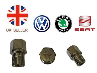 Vw Seat Skoda Locking Wheel Nut Key No.52 with 7 Flat splines