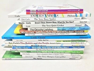 MIXED LOT 6 Eric Carle HARDCOVER children's picture books  SHIPS FREE