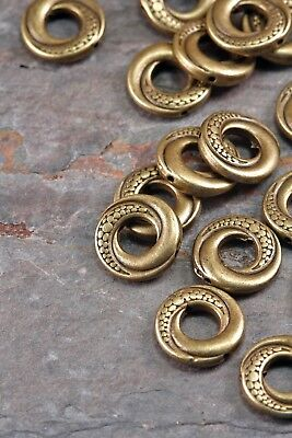 Lot of 20 Pieces Tibetan Silver 15mm Antique Bronze Tone Donut Ring Spacer Beads