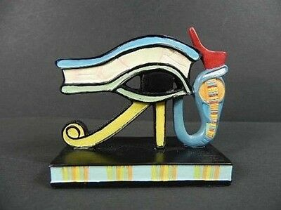 Wedjat Eye of Horus Egypt , 2 13/16in, New, Collector's Figurine Poly, Egypt