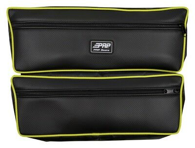 PRP Double Storage Bag w/LIME Piping for Polaris RZR XP1000 S900, General & More