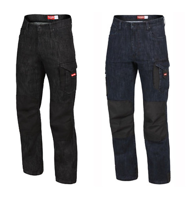 Hard Yakka Legends 3D Stretch Denim Jeans Blue Black Y03019 Work Pants Trousers