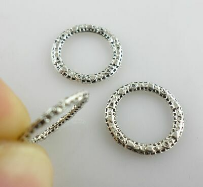 80/600pcs Tibetan Silver seal Round Annulus Jump Rings Connector Pendants 14mm