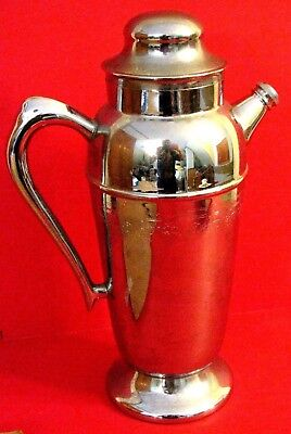 SILVER-PLATED VINTAGE COFFEE POT DECANTER CARAFE Nice Shape