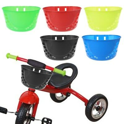 Bicycle Basket For Children Bike Plastic Pannier Front HandlebarCarrierstorageGG