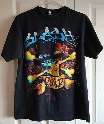 T-Shirt 2010 Slash Were All Gonna Die World Tour Black M Adult GNR Bass Player