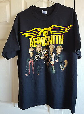 T-Shirt 2012 Aerosmith Second Leg of The Global Warming Tour Black XL Cotton