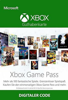 Xbox Game Pass 1 Monat Mitgliedschaft Karte - XGP MS Xbox One & 360 1 Month Code