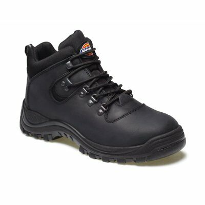 Dickies Fury Leather Safety Work Hiker Boot Sra Steel Toe Cap Black Size 10