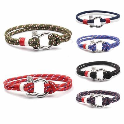 Couples Stainless Steel Bracelet Unisex Charm Wrist Band Gift Fashion 6 Colors