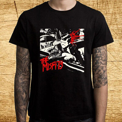 MISFITS Fiends Forever Punk rock band logo Men/'s New Black T shirt S to 3XL
