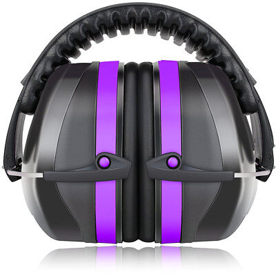 34dB Highest NRR Safety Ear Muffs With Adjustable Headband Fits Adults to Kids