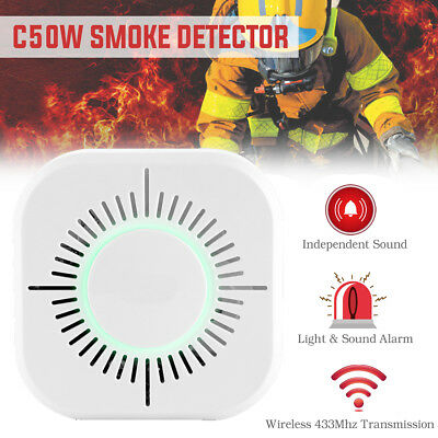3 in 1 C50W Smoke Detection Sound/Light&Sound Alarm/Wireless 433 Transmission
