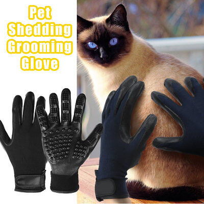 2x Pet Dog Cat Horse Cleaner Grooming Gloves Brush Hair Remover Shedding Massage