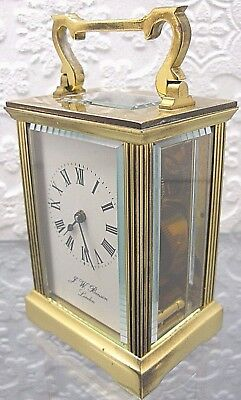 A Good Solid brass Carriage Clock, J W Benson, London excellent condition