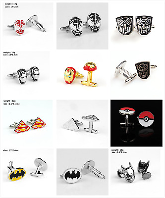 Fashion Super Hero Cufflinks Mens Wedding Superhero Cuff Links Party Favors Gift